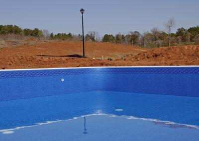 Монтаж каркасного бассейна на туристической базе