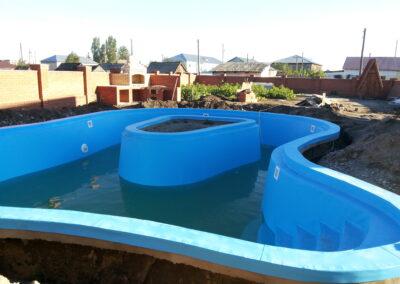 Частный скиммерный бассейн с. Хабары