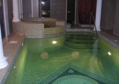 Скиммерный бассейн в коммерческой сауне, г. Барнаул