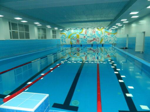 Спортивный переливной бассейн в Таштагол