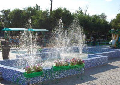 городской фонтан в п. Кулунда